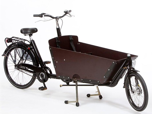 Milano Bertus cargo bike in dark wood